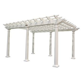 Suncast 192 In W X 153 In L X 105 In H X White Resin Freestanding Perg Pergola Outdoor Shade Attached Pergola