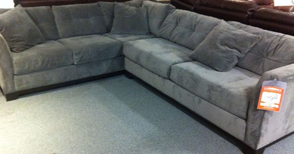 Gray sectional sofa from macy39s for the home pinterest for Ditto grey sectional sofa