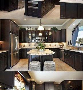 How To Brighten Up A Dark Kitchen Without Painting Decorate Your Kitchen With Dark Kitchen Cabinets