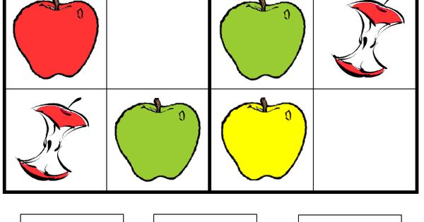 Apple Picture Sudoku Puzzle A Childs Place This Is A
