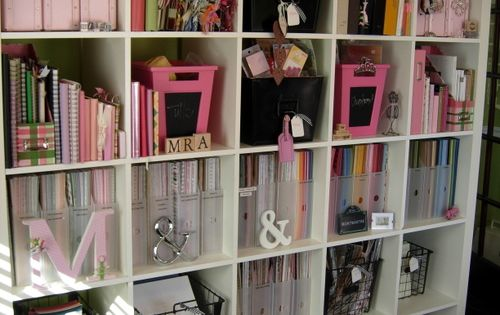 Awesome scrapbook storage!