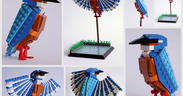 Pajaro lego ni os juguetes construcciones martin pescador - Construcciones de lego para ninos ...