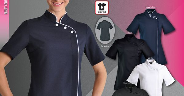 The madri beauty salon tunic reflects the style of for Spa uniform suppliers cape town