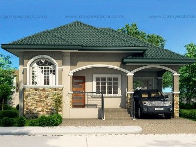This 3 Bedroom House Design Has A Total Floor Area Of 82 Square Meters Minimum Lot Size R Philippines House Design Simple House Exterior Bungalow House Design