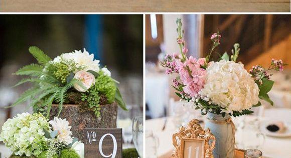 Decoraci n de boda vintage con hortensias mi boda - Decoracion con hortensias ...