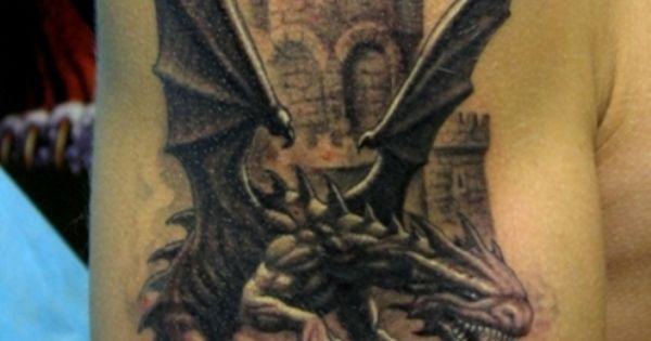 18 dragon castle tattoo back finish tattoo pinterest castle tattoo tattoo and tattoo designs. Black Bedroom Furniture Sets. Home Design Ideas