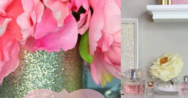 Glamorous Decorations For A Girly Office Makeup Room Vanity Home Decor Pinterest Best
