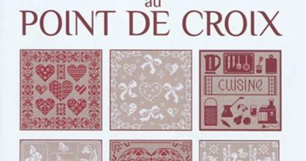 collectif monochromes rouges blancs point de croix. Black Bedroom Furniture Sets. Home Design Ideas