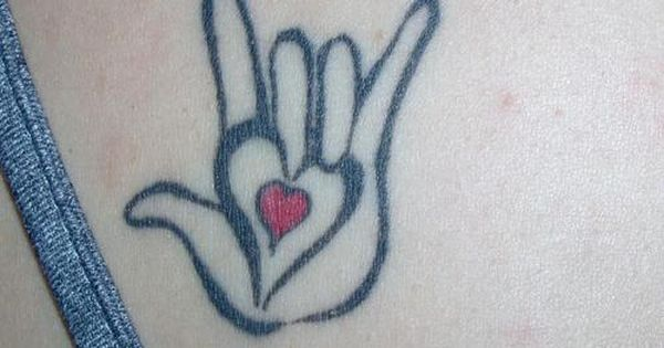 i love you sign tattoo american sign language quoti love