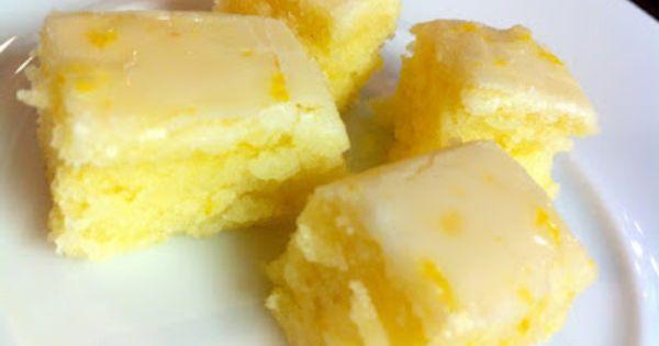 Becky Charms' Lemony Lemon Brownies - looks like a scrumptious twist on