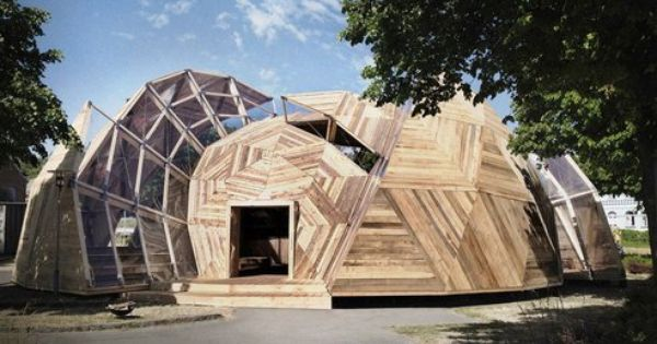 Deconstructed Geodesic Dome by Danish architects Kristoffer Tejlgaard and Benny Jepsen.