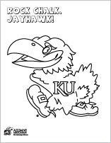 Jayhawk Coloring Sheets Rock Chalk Kansas Day