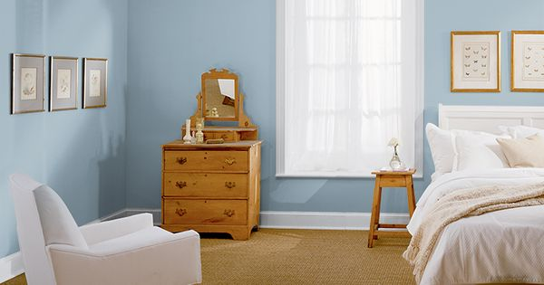 behr newport blue bedroom paint color with manhattan mist trim mom