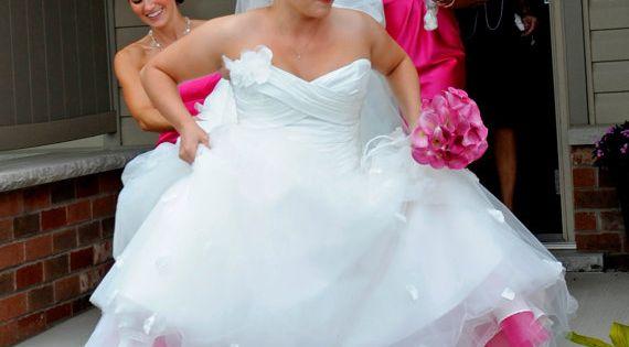 Wedding Inspiration & Ideas. bride's petticoat matches bridesmaid dresses..