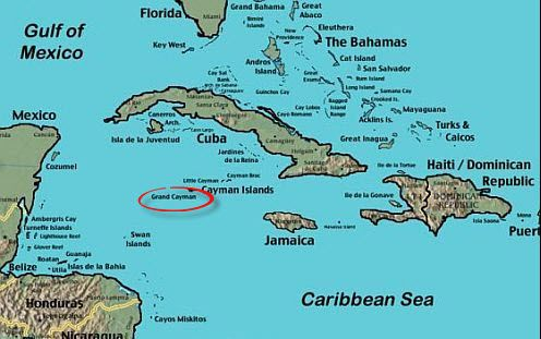 Grand Cayman Map Where In The World Is This Island Located
