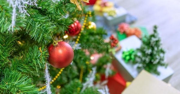 Decorated Christmas Tree On Blurred Sparkling And Fairy Whiteground New Year S Aff Blurred Sparkli Christmas Tree Decorations Christmas Tree Christmas