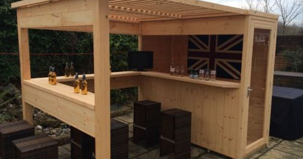 the sports bar garden bar summer house garden shed. Black Bedroom Furniture Sets. Home Design Ideas