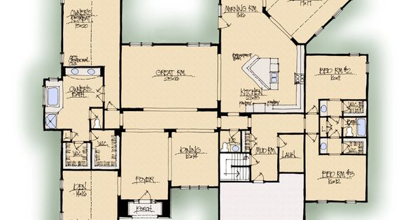 Home Builder Interactive Floor Plans: Greystone A - Midwest