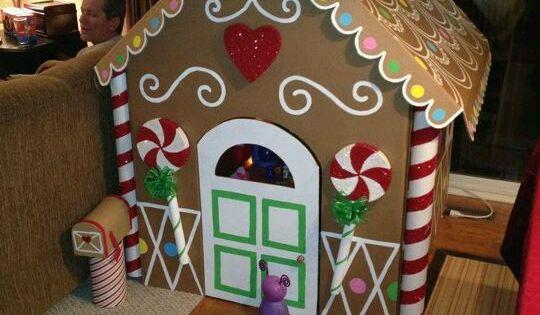 Casetta di hansel gretel in cartone per bambini