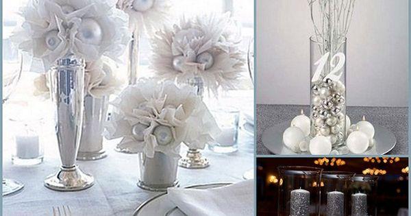 Pinterest Winter Wedding Centerpieces: Silver Winter Wedding Table Decorations HotRef