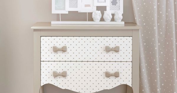 commode enfant en bois blanche taupe l 80 cm coquette maisons du monde cosas pinterest. Black Bedroom Furniture Sets. Home Design Ideas