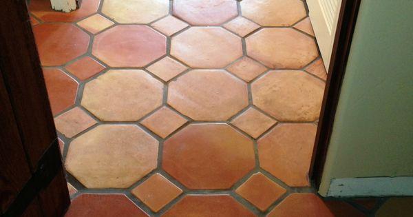 12x12 Octagon Pattern Saltillo Terra Cotta Floor Tiles