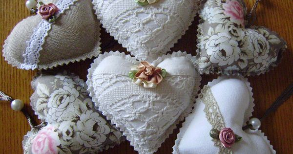 Coeurs DE Porte Deco Style Shabby Romantique Dentelle Roses Vintage ...