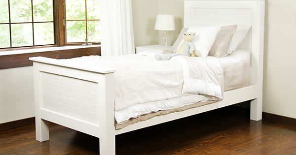 Diy Bed Frame Made From Tongue And Groove Planks Bed Frames