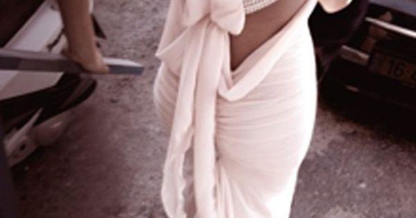 Beautiful back to a dress.