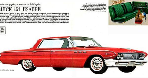 1961 Buick Lesabre 4 Door Hardtop Promotional Advertising Poster Buick Lesabre Buick Automobile Advertising