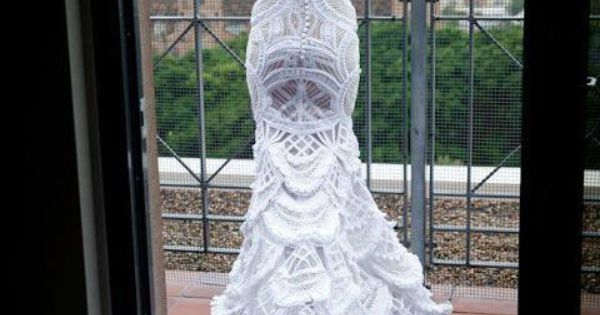 crochet wedding dress - LOVE the dress but not so much the