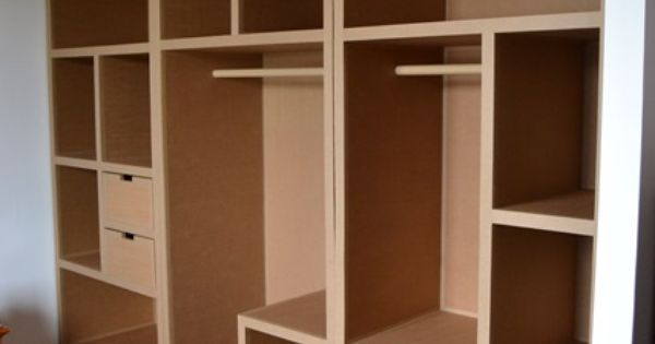 dressing en carton encastr cart n pinterest cart n y. Black Bedroom Furniture Sets. Home Design Ideas
