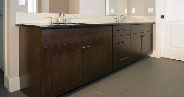 Master baths mission door style beech wood kodiak stain for Beech wood kitchen cabinets