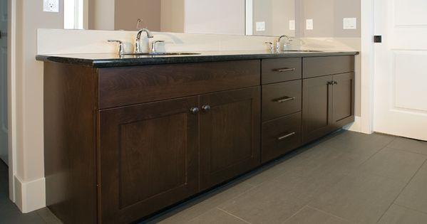 Master baths mission door style beech wood kodiak stain for Beech wood kitchen cabinets
