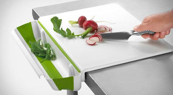 Cutting Board With Collapsible Bin - $24.99 | The Gadget Flow