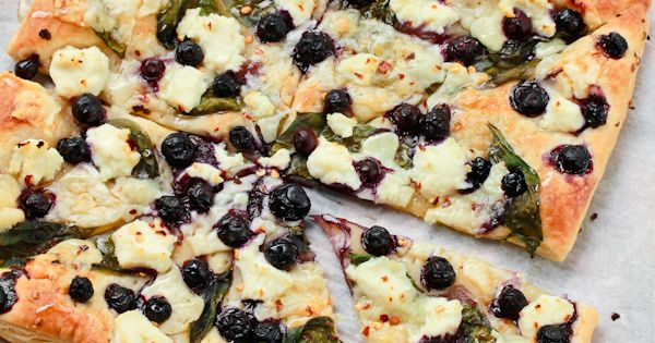 Savory Blueberry Ricotta Pizza Recipe — Dishmaps
