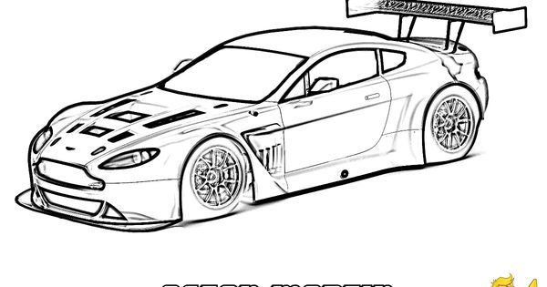 aston  martin vantage gt3  side view     you can print