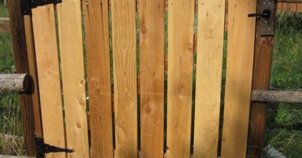 Porte de jardin en bois: idées et instructions de montage  Jardins ...