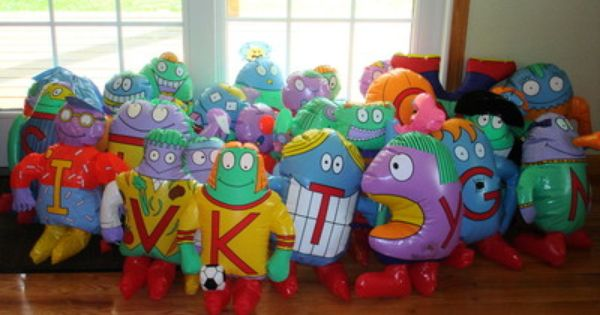 the letter people inflatable 1996 all 26 a to z huggables
