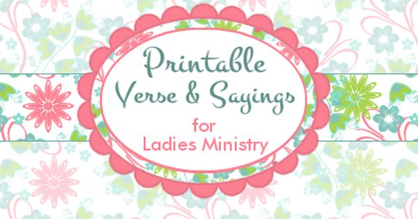 Free Printable Bible Verse and Saying Tags for Womens ...