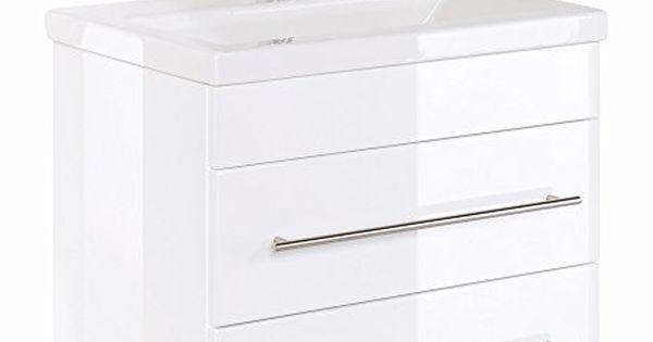Badmbel-Mars-600-SlimLine-weiss-hochglanz Schmuckles   Möbel - weie badmbel