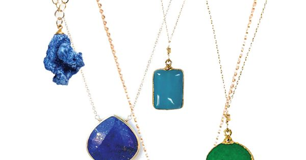 necklaces in every pretty color of the rainbow by www.elephantheart...