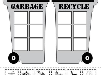 sorting trash earth day recycling worksheets 4 free printable versions free printable. Black Bedroom Furniture Sets. Home Design Ideas
