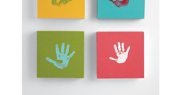 Give her art with meaning behind it, using a handprint canvas kit.