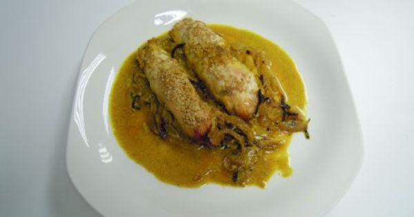 Paupiettes de pollo y manzana al curry asador - Asador al vapor lekue ...