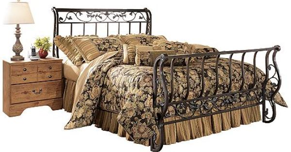 Ashley Furniture Bittersweet King Metal Sleigh Bed Products From Adulthood Pinterest
