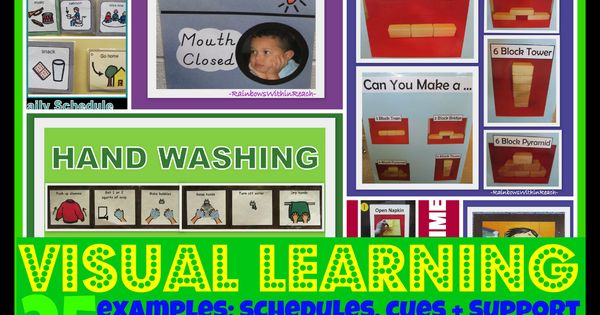 Share good ideas- VISUAL Learning: Cues, Supports and Systems used in Preschool