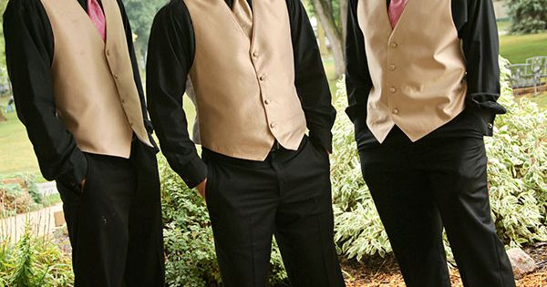 Change Things Up By Combining A Gold Vest With Black
