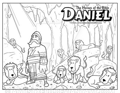 Daniel Coloring Page Bible Coloring Pages, Sunday School Coloring Pages,  Daniel And The Lions