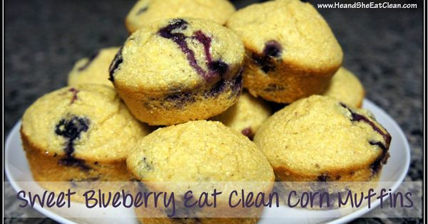 Clean Eat Recipe :: Sweet Blueberry Eat Clean Corn Muffins eatclean cleaneating